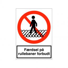 Færdsel på rullebaner forbudt