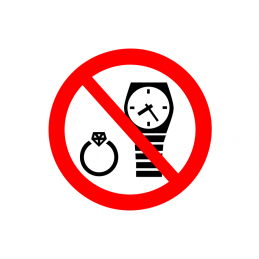 Ure og smykker forbudt