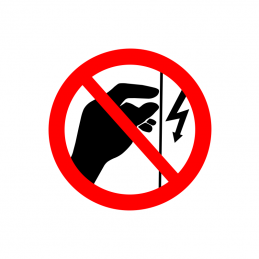 Berøring forbudt, installation under spænding