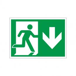 Flugtvej / nødudgang højre og ned