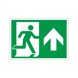 Flugtvej / nødudgang højre og op