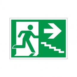 Flugtvej / nødudgang højre trappe ned