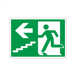 Flugtvej / nødudgang venstre trappe ned