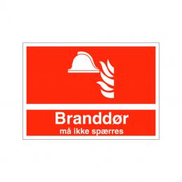 Branddør må ikke spærres