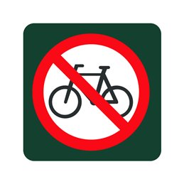naturstyrelsen - cykling forbudt