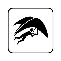 pictogram - hanggliding