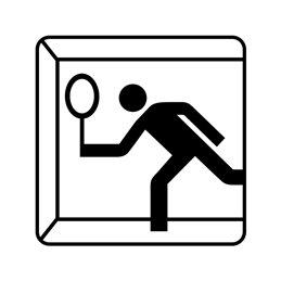 pictogram - squash