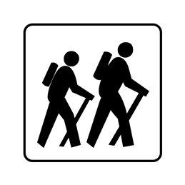 pictogram - vandrerute