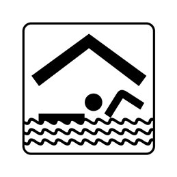 pictogram - svømmehal