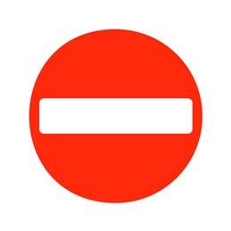 pictogram - indgang ikke tilladt