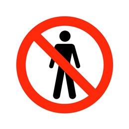 pictogram - adgang forbudt