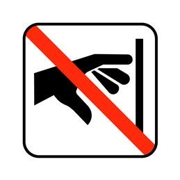 pictogram - berøring ikke tilladt