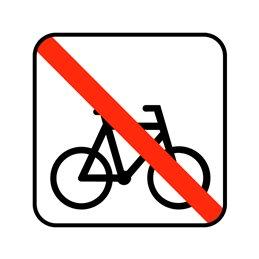 pictogram - henstillen af cykler ikke tilladt