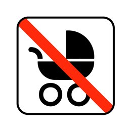pictogram - barnevogn ikke tilladt