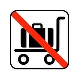 pictogram - bagagevogn ikke tilladt