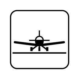 pictogram/piktogram - flyveplads