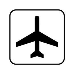 pictogram/piktogram - lufthavn