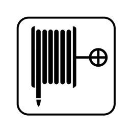 pictogram / piktogram - Brandslange