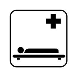 pictogram / piktogram - Båre
