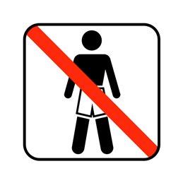 pictogram / piktogram - Ingen badetøj