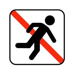 pictogram / piktogram - Løb ikke i hallen