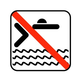pictogram / piktogram - Hovedspring forbudt