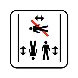 pictogram / piktogram - Kun svømning på langs i bassinet