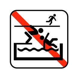 pictogram / piktogram - Voldsom leg forbudt