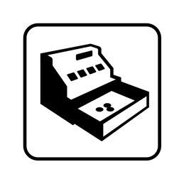 pictogram / piktogram - Lav kassebeholdning