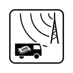 pictogram / piktogram - Overvågning af værditransportkøretøj