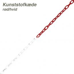 afspærringskæde rød/hvid
