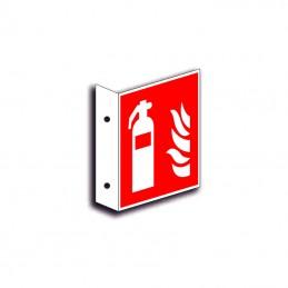 Ildslukker faneskilt