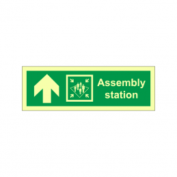 Assembly station symbol with arrow up