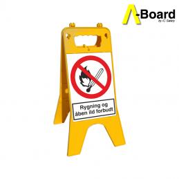 a-board rygning og åben ild forbudt