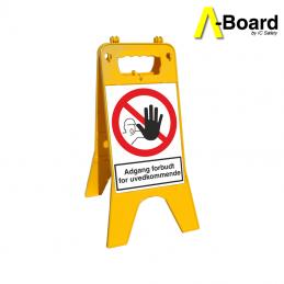 a-board adgang forbudt for uvedkommende