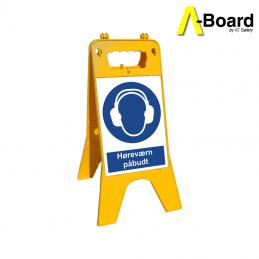 a-board høreværn påbudt