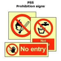 PSS | Prohibition signs